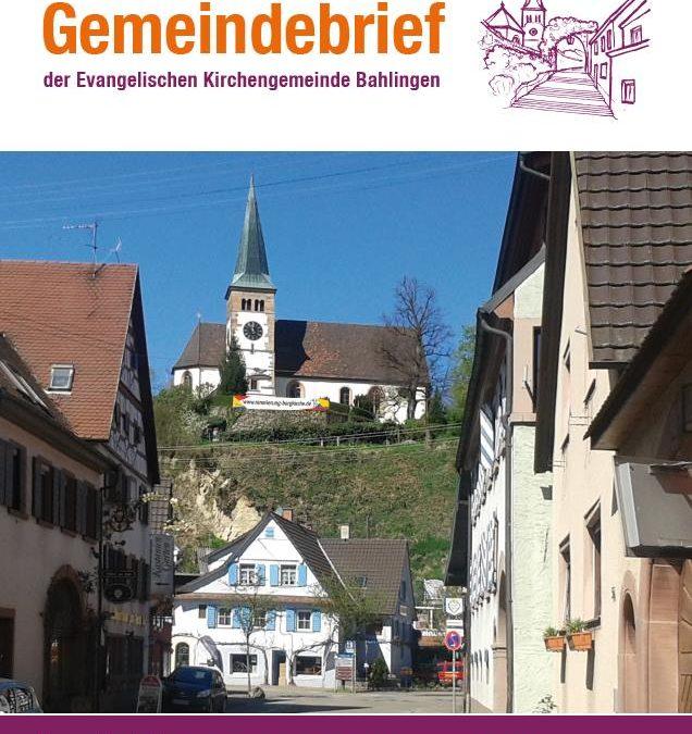 Gemeindebrief Ausgabe April 2018